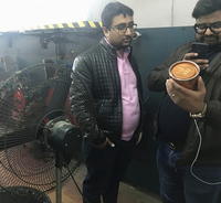 Customer from India for visit our PVC measuring tape machine factory